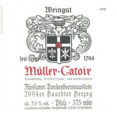 MULLER CATOIR, MUSSBACHER ESELSHAUT, RIESLANER TBA 2001 - hv 37.5cl